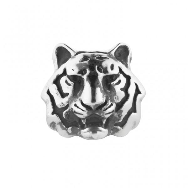 Rebeligion TigerKopf Anhänger Bead in Medium fürs Lederarmband 150106771001 v Rebeligion True Silver