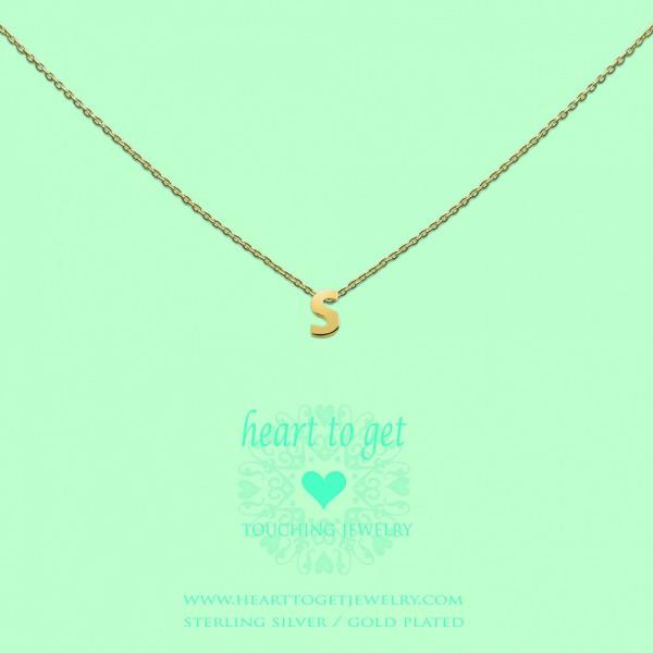 Heart to get Anhänger Buchstabe S Silber goldfarben L160INS13G