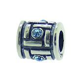 Silber Charms mit Swarovski Steinen Anhänger, Kugel, Bead Silber APS 016 von Piccolo das Original