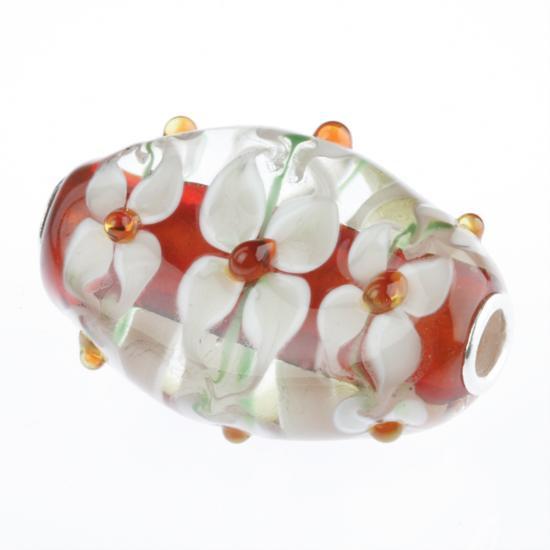 Muranoglaskugel XL mit Silberkern, Beads, Charms, Charlot Borgen Design