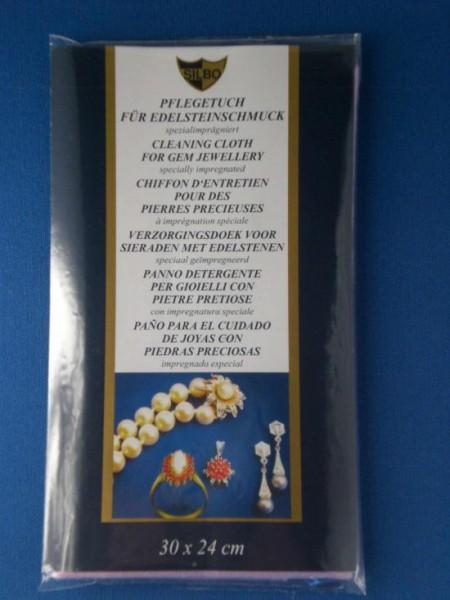 Pflegetuch für Edelsteine und Perlen von Silbo, Putztuch für Schmuck