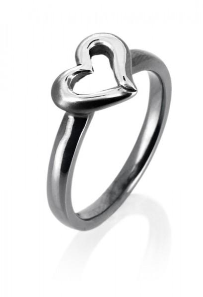heartbreaker designed by Drachenfels style & go-Steckring /Vorsteckring Herz-Motiv rosé LD DH 11 VG
