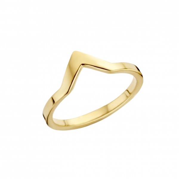Melano Friends Vorsteckring, schmaler Ring aus Edelstahl Farbe gold ca. 2 mm