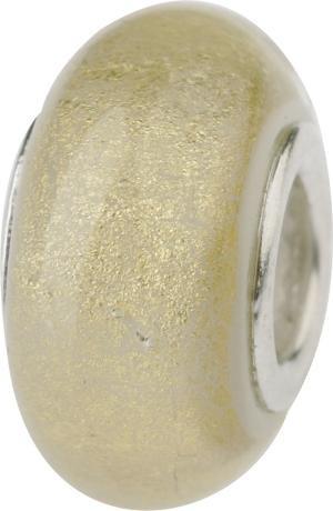 Murano Bead, Murano Glaskugel für Bettelarmband weiss, GPS 14 von Charlot Borgen Design