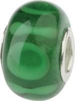 Murano Bead, Murano Glaskugel für Bettelarmband grün, GPS 23 von Charlot Borgen Design