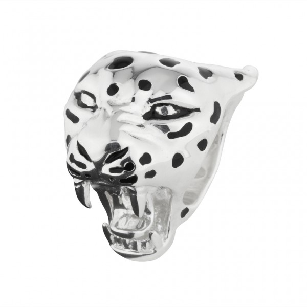 Rebeligion Anhänger Leopard Leopardenkopf Add On Large / Men Black Rock 15 00845 71 001 fürs Armband
