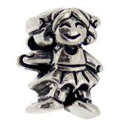 Jolie Mädchen Bead, Anhänger, Charm, Silberkugel, Element in Silber ABK 056 v Jolie Collection