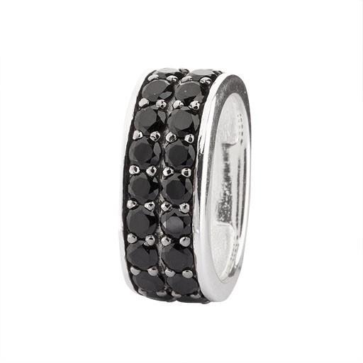 Rebeligion Anhänger Add On mit Stein 150114571002 Medium fürs Leder-Armband von Rebeligion Schmuck-C