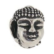 Jolie Buddha Kopf Silberkugel, Element, Figur, Charm, Bead ABK-025 von Jolie Collection Schmuck