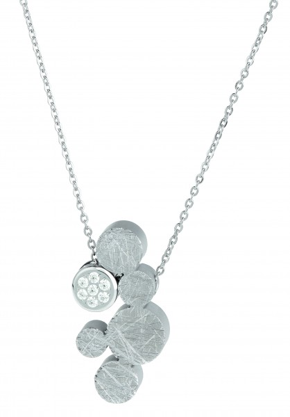 Ernstes Design Evia Set K766 Halskette mit Anhängern aus Edelstahl und Zirkonia