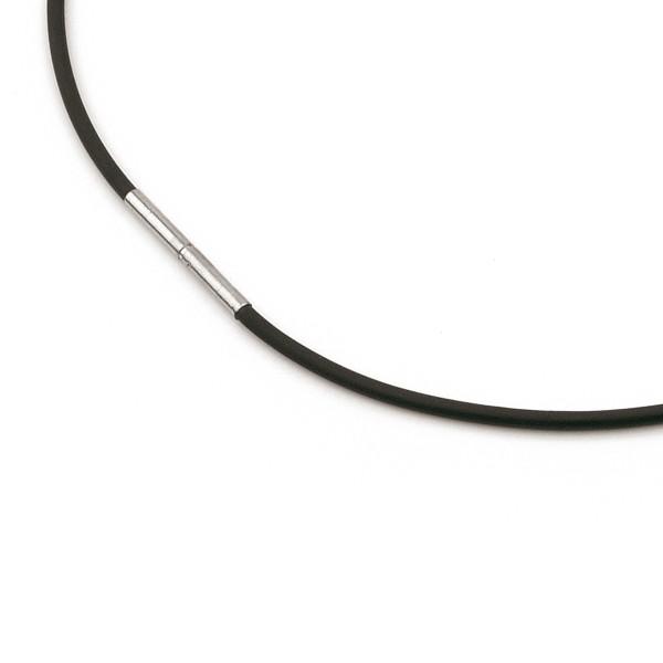 Boccia Collier, Kautschuk schwarz Ø 2mm, Reintitanverschluss Ø 2,7 mm, 0801-01
