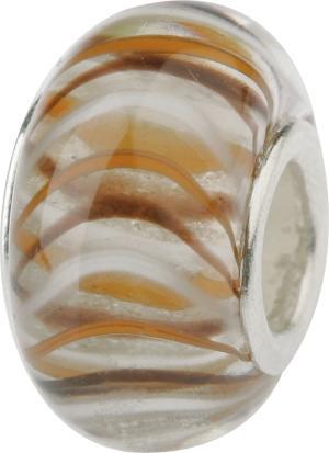 Murano Bead, Murano Glaskugel für Bettelarmband braun, GPS 19 von Charlot Borgen Design