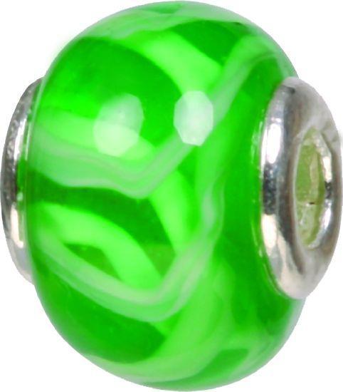 Piccolo Murano Bead, Charm, Muranoglaskugel, GPS 67 grün von Piccolo das Original