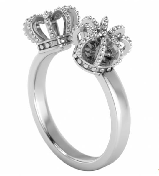 annika plum offener Ring open rings Krone offen AP Sterlingsilber 1004