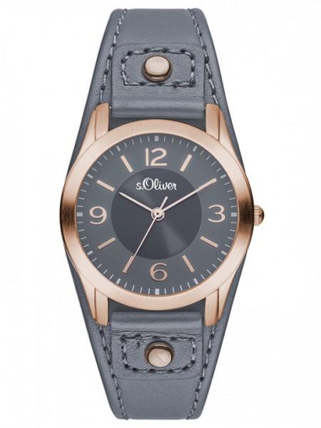 s.Oliver Uhr Damenuhr rund mit Lederarmband SO 2947 LQ