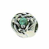 Silber Charms mit blauem Stein, Anhänger, Kugel, Bead Silber APX-016 von Piccolo das Original