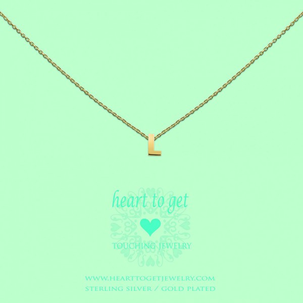 Heart to get Anhänger Buchstabe L Silber goldfarben L153INL13G