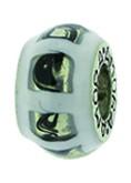 Piccolo Schmuck Anhänger, Charm, Bead, APF 066 Emaillekugel mit Silberkern von Piccolo das Original