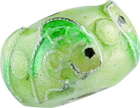 Emaillekugel mit Silberkern Fische, Beads, Charms, Charlot Borgen Design