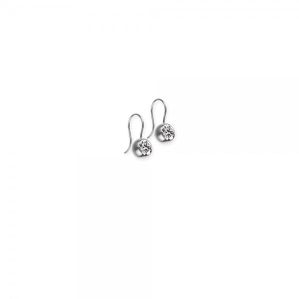 Ohrhänger von Ernstes Design mit Farbstein weiss 7 mm, E206