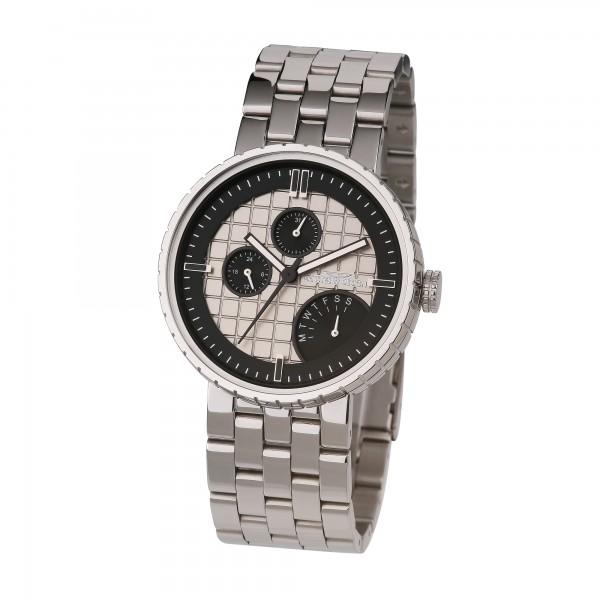 Ernstes Design Herren-Armbanduhr, Chronograph, Edelstahl U011 ST Ø ca. 43,5 mm