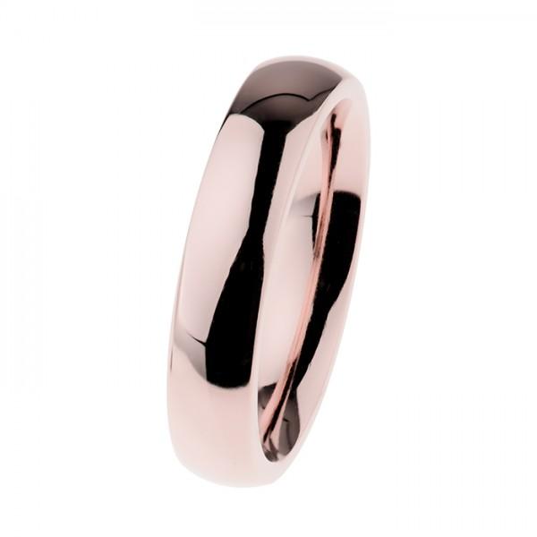 Ernstes Design R532 Evia Ring, Vorsteckring, Edelstahl rosé beschichtet poliert 5mm
