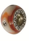 Piccolo Schmuck Anhänger, Charm, Bead, Kugel APF 049 Emaillekugel mit Silberkern von Piccolo das Or