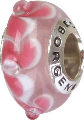 Murano Glaskugel pink GPS-86 / Charm / Bead / Anhänger fürs Bettelarmband-Copy