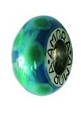 Piccolo Schmuck Anhänger, Charm, Bead, APF 054 Emaillekugel mit Silberkern von Piccolo das Original