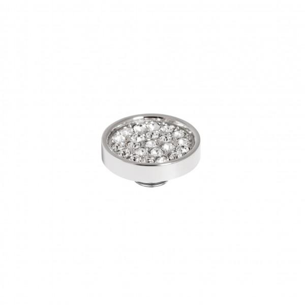 Melano Vivid Ringaufsatz, Aufsatz, Fassung Edelstahl mit Zirkonia in Farbe Kristall