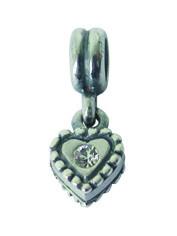 Piccolo Silber Anhänger mit weissem Stein, Charms, Bead Silber APH 004 von Piccolo das Original
