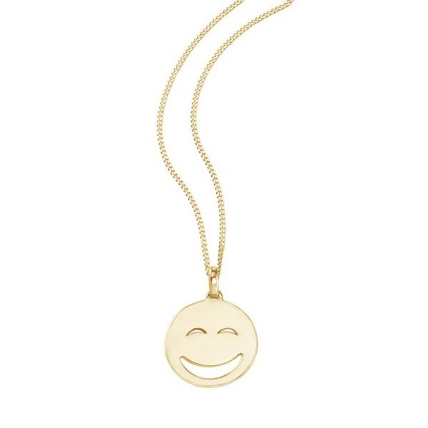 """So Cosi """"Sunshine"""" Halskette, Collier, Anhänger inkl. Kette Silber goldfarben plattiert 16-004"""