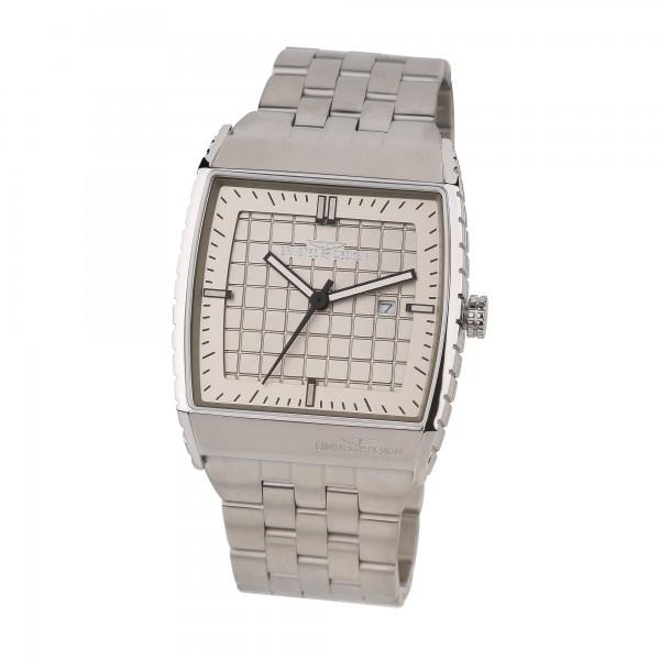 Ernstes Design Herren-Armbanduhr, Edelstahl U017 ST ca. 40 x 45 mm