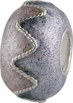 Silberkugel mit Emaille verziert, Beads, Charms, Charlot Borgen Design