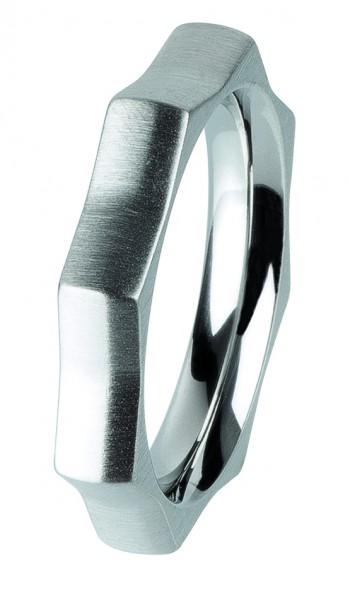 Ernstes Design Vorsteckring, Beisteckring, ED vita,Ring aus Edelstahl mattiert, 4mm R307