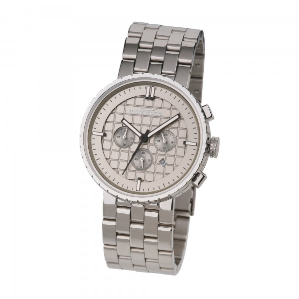 Ernstes Design Herren-Armbanduhr, Chronograph, Edelstahl U009 ST Ø ca. 43,5 mm