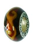 Piccolo Schmuck Anhänger, Charm, Bead, APF 050 Emaillekugel mit Silberkern von Piccolo das Original