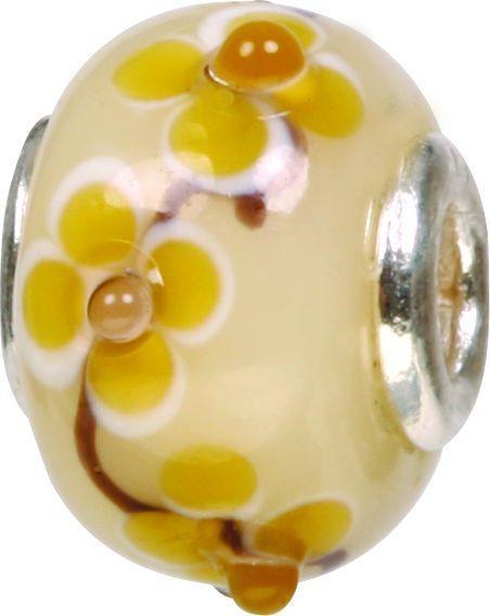 Mundgeblasene Muranoglaskugel mit Silberkern, Charm, Bead, GPS 46 von Piccolo das Original