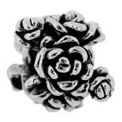 Jolie Blumen Silberkugel, Element, Figur, Anhänger, Charm, Bead ABK-026 von Jolie Collection Schmuck