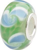 Murano Bead, Murano Glaskugel für Bettelarmband grün, GPS 24 von Charlot Borgen Design