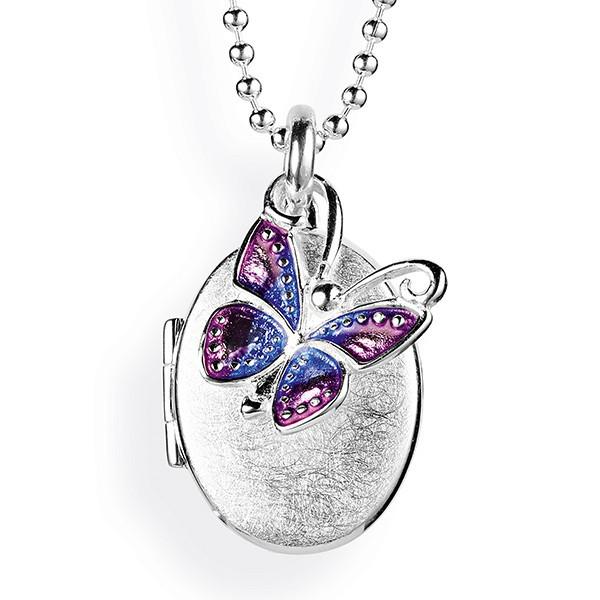 Medaillon zum Aufklappen für Bilder Schmetterling heartbreaker LD MY 353-17 OG Gravur möglich
