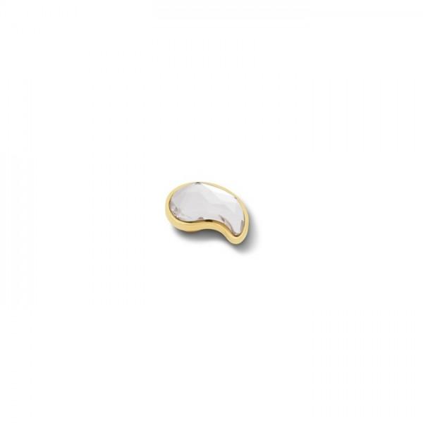 Melano Vivid VM33 Aufsatz / Fassung Paisley, 11 mm, Edelstahl goldfarben / Zirkonia kristallfarben