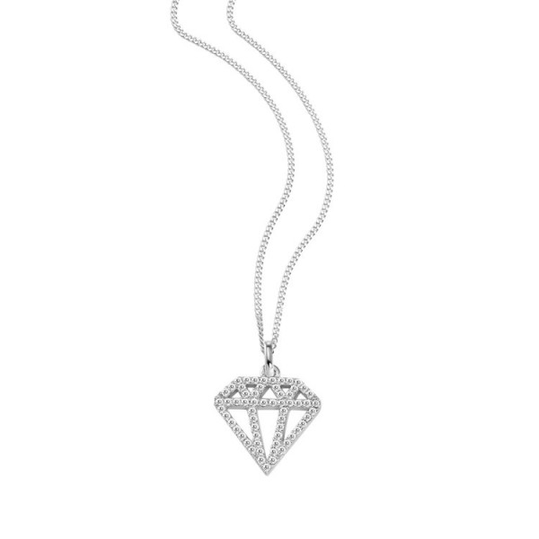 "So Cosi ""Diamonds are a girls best friend"" Halskette, Collier, Anhänger inkl. Kette Silber"