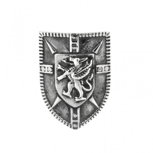 Rebeligion Anhänger Schild mit Wappen Add On Large / Men Silber Black Rock 15 00987 71 001 fürs Armb