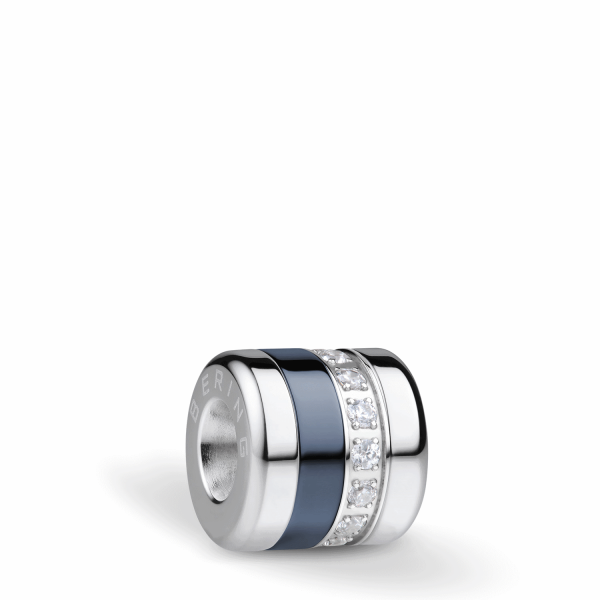 "Bering Charm ""Best Friend"" Edelstahl mit Zirkonia, Keramik aus Arctic Symphony Collection"