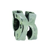 Piccolo Buchstaben Anhänger, Buchstabe K, Charms, Bead Silber APGL K von Piccolo das Original