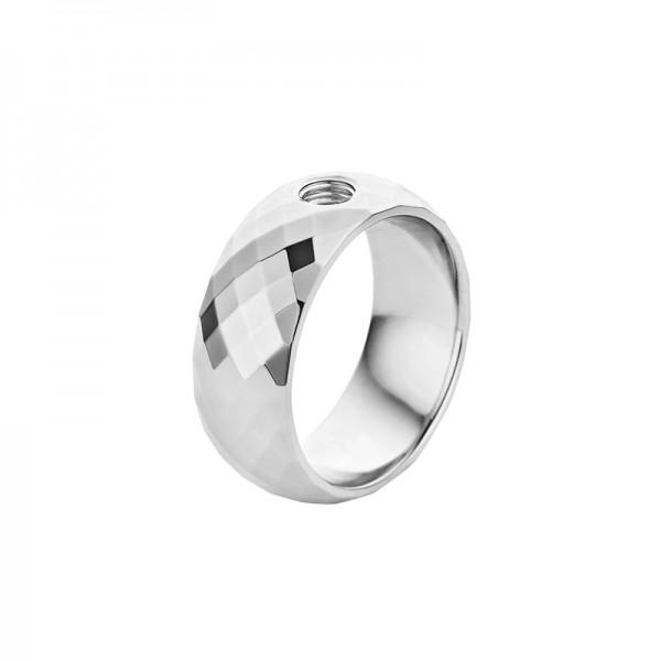 Melano Vivid Ring VAI Edelstahl facettiert M01R 9090 Breite 8 mm