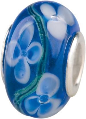 Murano Bead, Murano Glaskugel für Bettelarmband blau, GPS 04 von Charlot Borgen Design