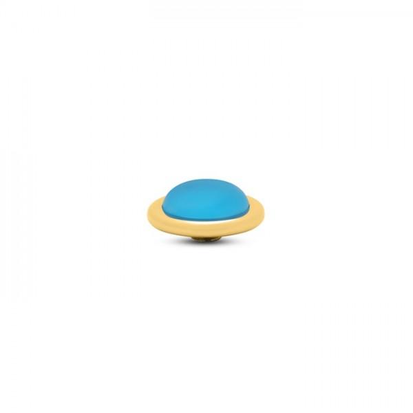 Melano Vivid, VM32 Aufsatz / Fassung Frosted Round, 14 mm, Edelstahl goldfarben / Stein in blue sky