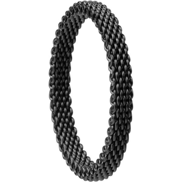 Bering 551-60-X1 Kombinationsring Innenring Schmal Edelstahl schwarz Milanaise